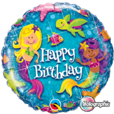 Happy Birthday Mermaid Foil Helium Balloon
